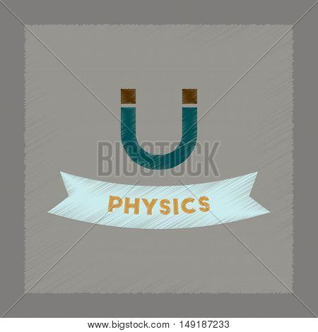 flat shading style icon of physics lesson