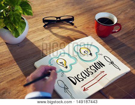 Discussion Explanation Conversation Planning Concept