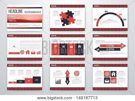 Set of infographic elements. Presentation template. Book cover design. Vector illustration
