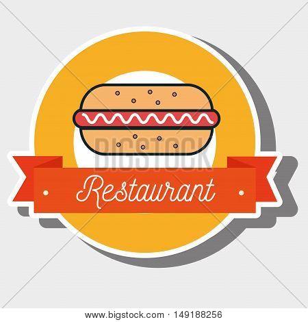 resturant hot dog fast food vector illustration eps 10