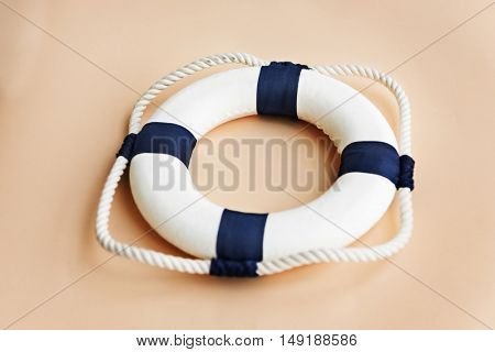 Buoy Floatation Assistance Rescue Rope Ring Safe Concept