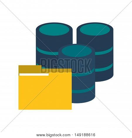 flat design file folder and trash cans icon vector illustration