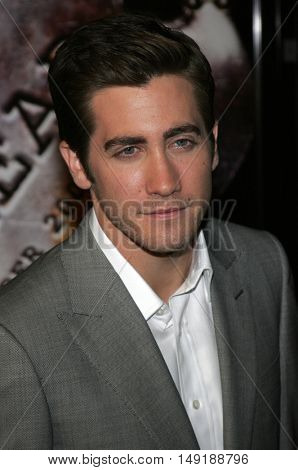 Jake Gyllenhaal at the World premiere of 'Jarhead' held at the Arclight Cinemas in Hollywood, USA on October 27, 2005.