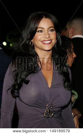 Sofia Vergara at the Los Angeles premiere of 'Get Rich or Die Tryin' held at the Grauman's Chinese Theatre in Hollywood, USA on November 3, 2005.