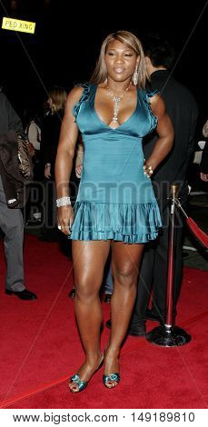 Serena Williams at the Los Angeles premiere of 'Get Rich or Die Tryin' held at the Grauman's Chinese Theatre in Hollywood, USA on November 3, 2005.