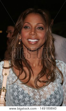 Holly Robinson Peete at the Los Angeles premiere of 'Get Rich or Die Tryin' held at the Grauman's Chinese Theatre in Hollywood, USA on November 3, 2005.