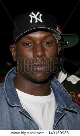 Tyrese Gibson at the Los Angeles premiere of 'Get Rich or Die Tryin' held at the Grauman's Chinese Theatre in Hollywood, USA on November 3, 2005.