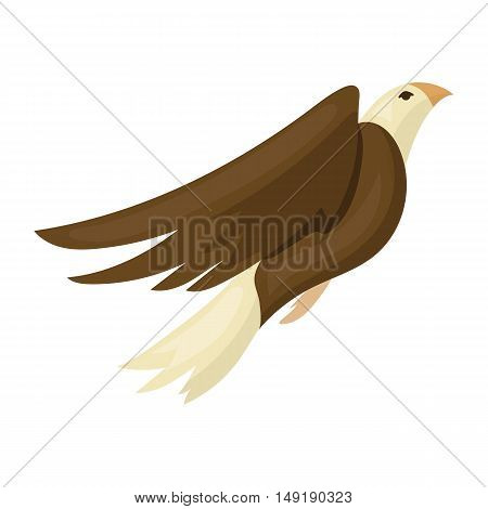 American eagle icon in cartoon style isolated on white background. Patriot day symbol vector illustration.