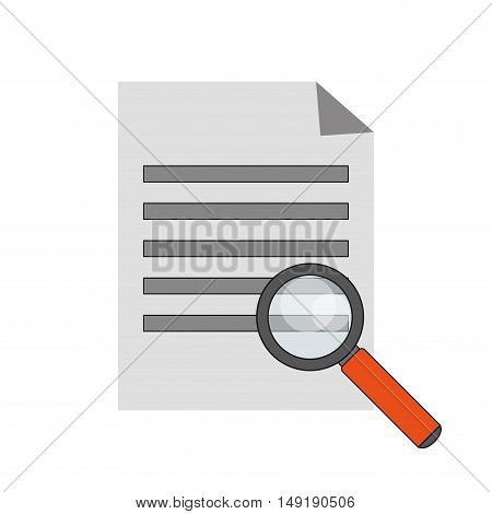 flat design paper document and computer  icon vector illustration