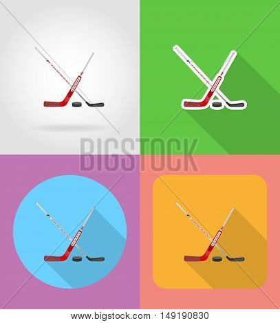 hockey flat icons vector illustration isolated on white background