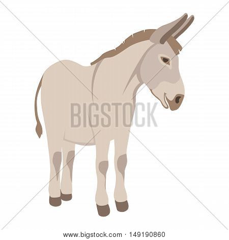 Donkey vector illustration style Flat profile side