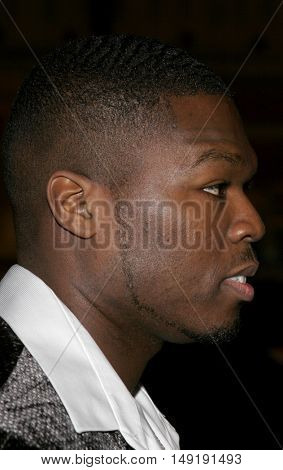 Curtis '50 Cent' Jackson at the Los Angeles premiere of 'Get Rich or Die Tryin' held at the Grauman's Chinese Theatre in Hollywood, USA on November 3, 2005.
