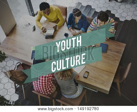 Youth Culture Lifestyle Teenager Young Teens Concept