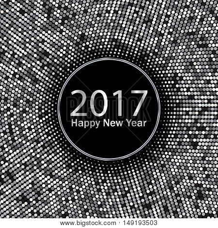 2017 Happy New Year, Silver vector background