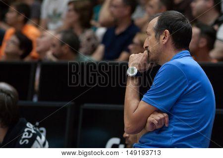 VALENCIA, SPAIN - SEPTEMBER 25th: Maldonado during match between Valencia Basket and Estudiantes at Fonteta Stadium on September 25, 2016 in Valencia, Spain