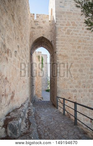 Arch Of Tower In Santa Catalina Castle In Jaen