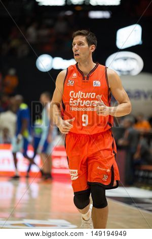 VALENCIA, SPAIN - SEPTEMBER 25th: Van Rossom during match between Valencia Basket and Estudiantes at Fonteta Stadium on September 25, 2016 in Valencia, Spain