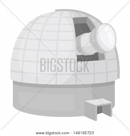 Observatory icon in cartoon style isolated on white background. Space symbol vector illustration.