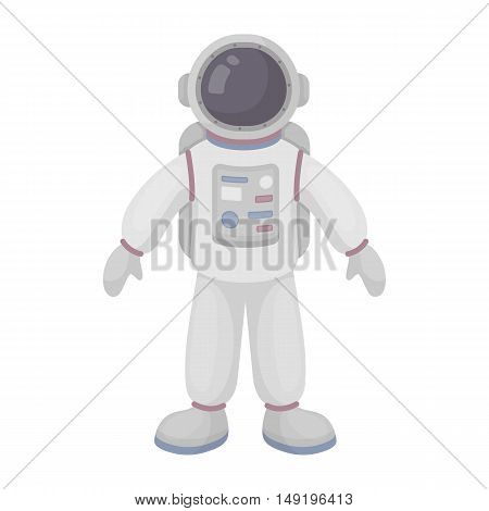 Astronaut icon in cartoon style isolated on white background. Space symbol vector illustration.