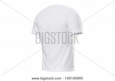 T-shirt white mens elegant stylish soft outfit. 3D graphic