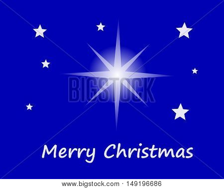 Merry Christmas With Stars In Sky
