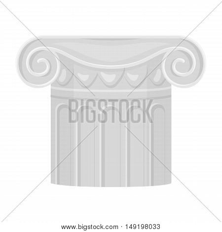 Column icon in cartoon style isolated on white background. Theater symbol vector illustration