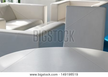 Close-up of home interior in white color