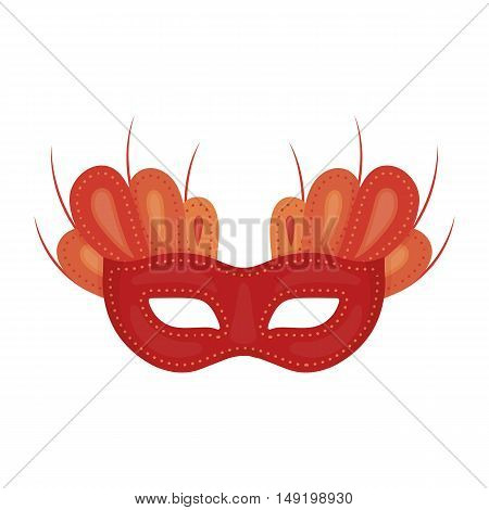 Mask icon in cartoon style isolated on white background. Theater symbol vector illustration