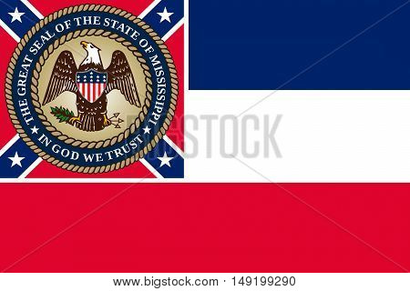 Flag of Mississippi state of United States