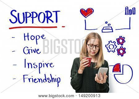 Support Care Assistance Help Concept