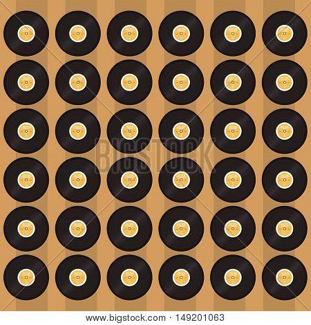 flat design vinyl record pattern background image vector illustration