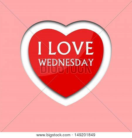 I love wednesday, font type with heart