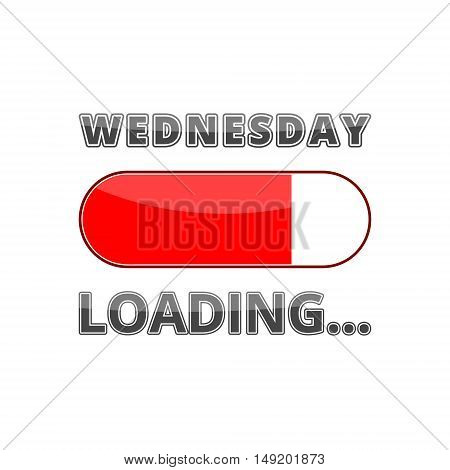 Progress Bar Loading with the text: Wednesday