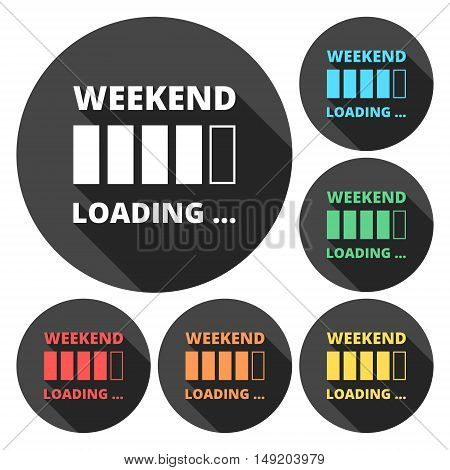 Weekend loading. Business concept. Vector illustration set
