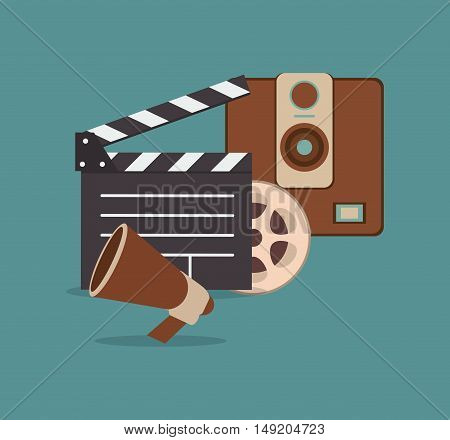 cinematography related icons image vector illustration design