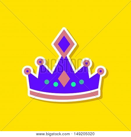 paper sticker on stylish background of crown royal