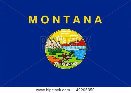 Flag of Montana is a state of United States