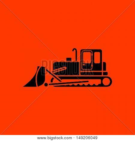 Icon Of Construction Bulldozer