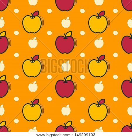 Seamless pattern with apples motif can be used in textiles for book design website background