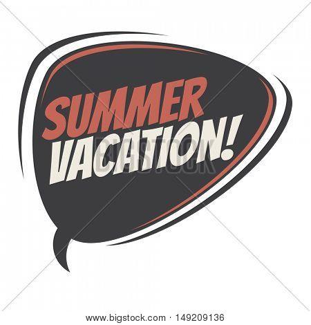 summer vacation retro cartoon balloon