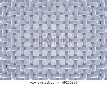 Microscopic fibers , Fabric structure , 3d illustration