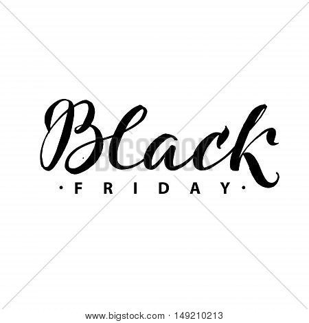 Black Friday Sale. Promo Abstract Calligraphic Vector Illustration for your business artwork.