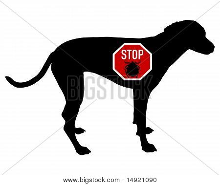 Dog Stop Sign For Ticks