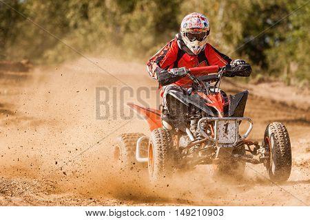 ATV Rider in the 4x4 quadbike race