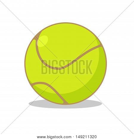 Tennis Ball Isolated. Sports Accessories For Tennis. Scope For Sports Game