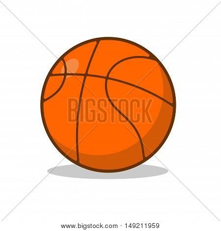 Basketball Ball Isolated. Sports Accessory For Basketball. Orange Area For Sports Game
