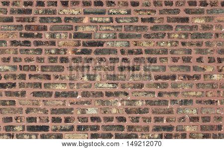 Brick wall background. Bricks of various lengths and shades.