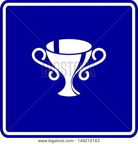 trophy cup with big handles sign