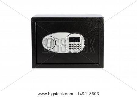 Black Metal Safe Box With Numeric Keypad Locked System