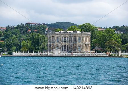 Kucuksu Pavilion built by Sultan Abdulmecit in Istanbul Turkey